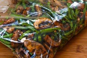 green beans mushrooms