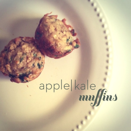 apple kale muffins