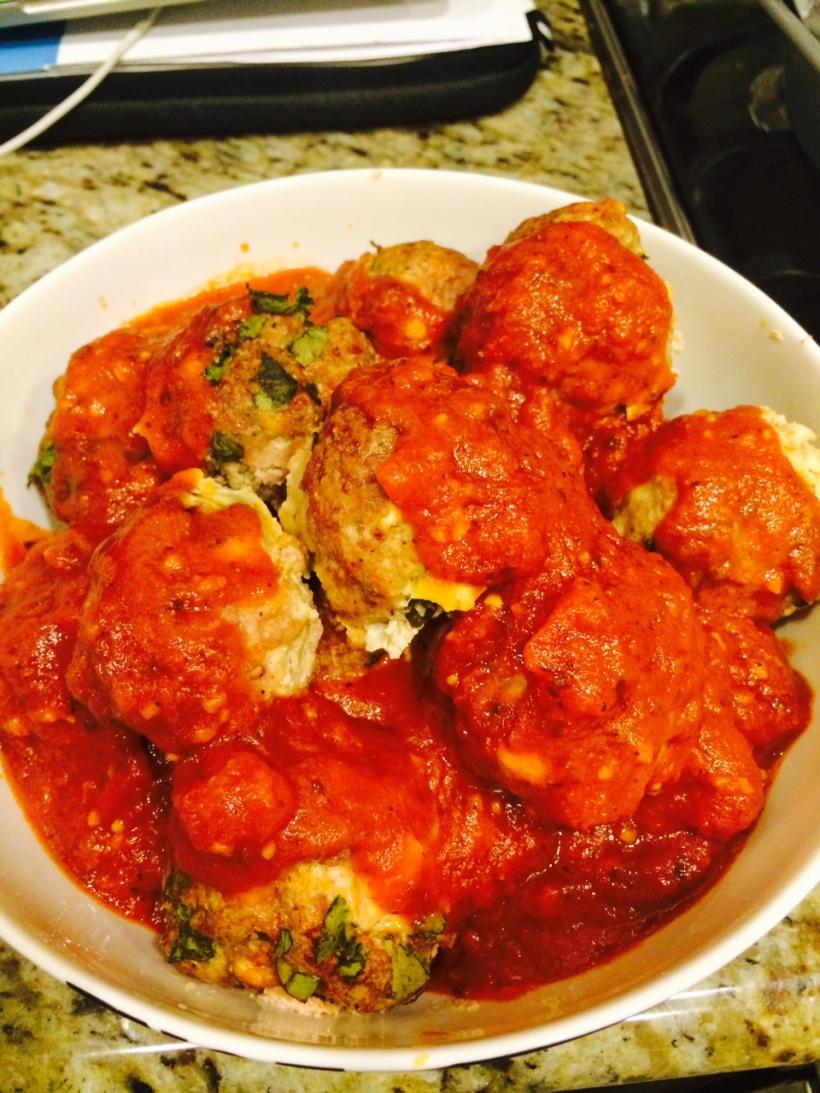 turkey feta spinach meatballs