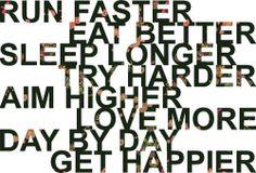 run faster...