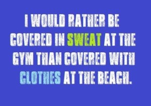sweat at gym