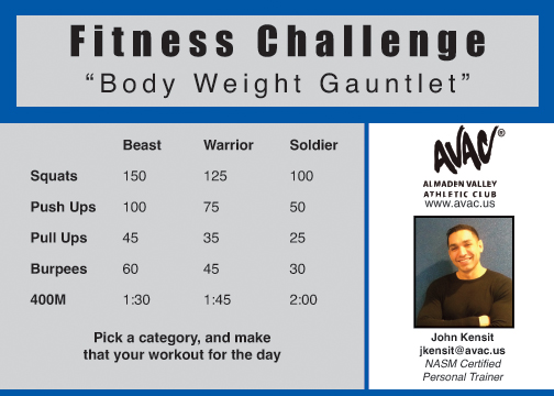 body weight gauntlet