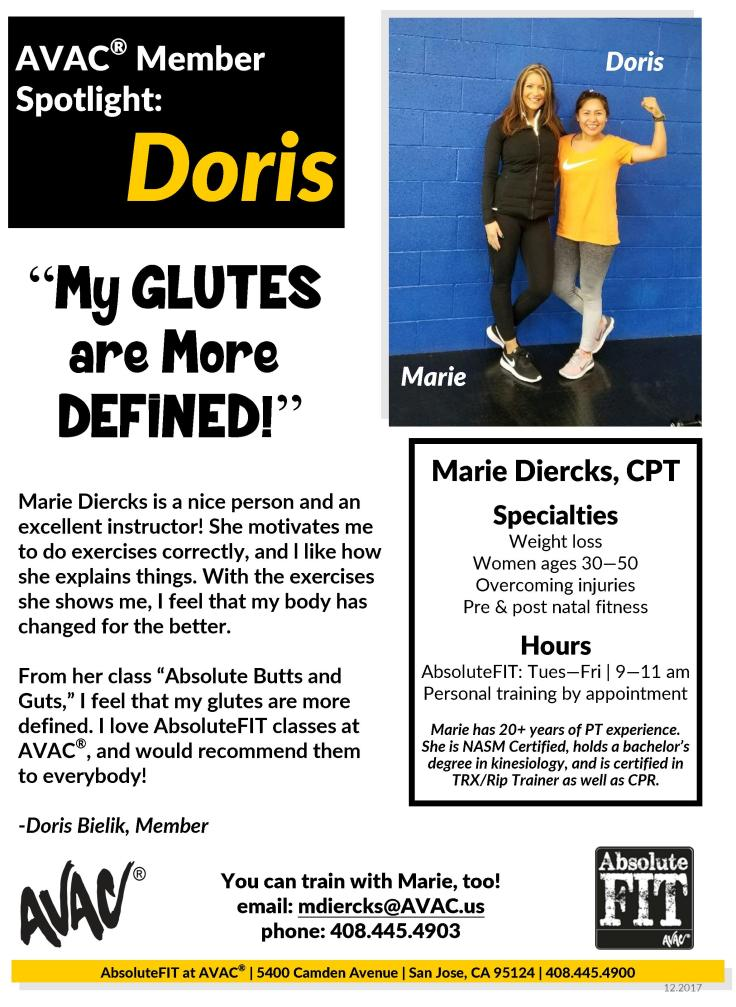 Marie with doris 12